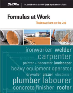 Formulas at Work - Tradesworkers on the Job
